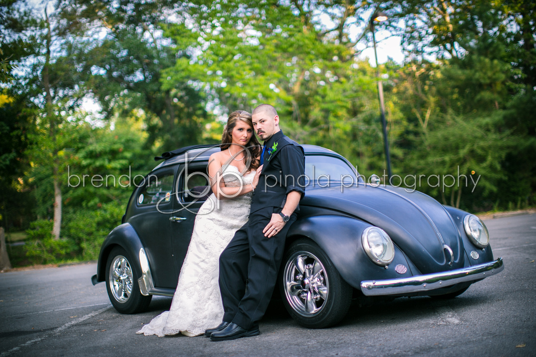 Bridal Portraits with the VW Beetle